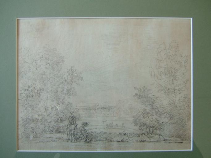 Vue du château de Cassan c. 1785_0
