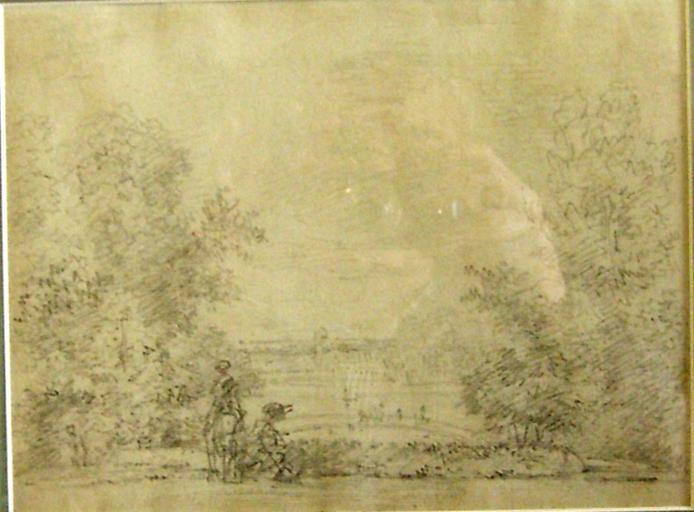 Vue du château de Cassan c. 1785