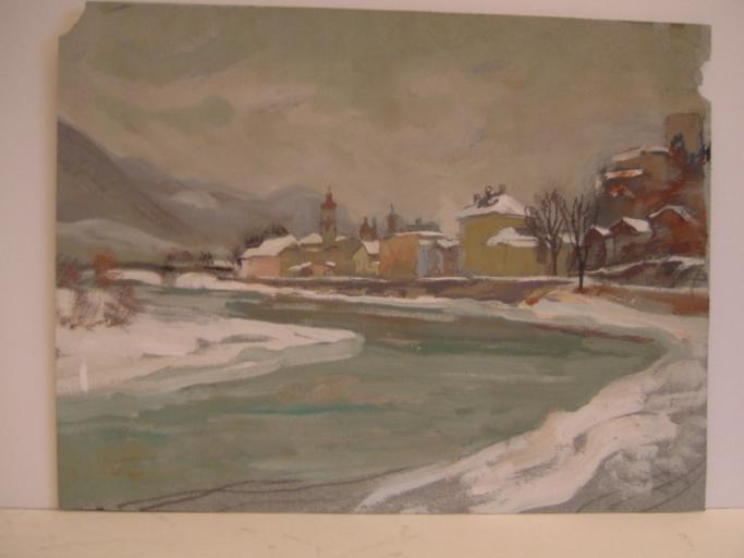 Village montagne, torrent (titre factice)_0