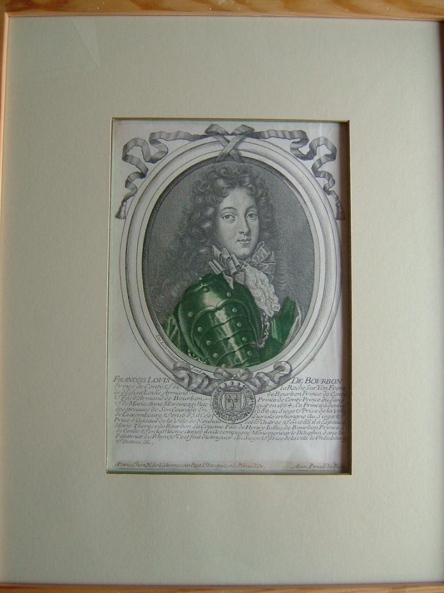 LARMESSIN Nicolas de : François Louis de Bourbon, prince de Conty (1664-1709)