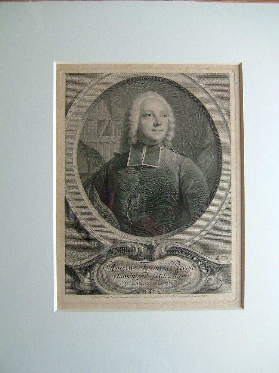SCHMIDT Georg Friedrich (graveur) : Antoine François Prévost, aumônier de SAS Mgr le Prince de Conti