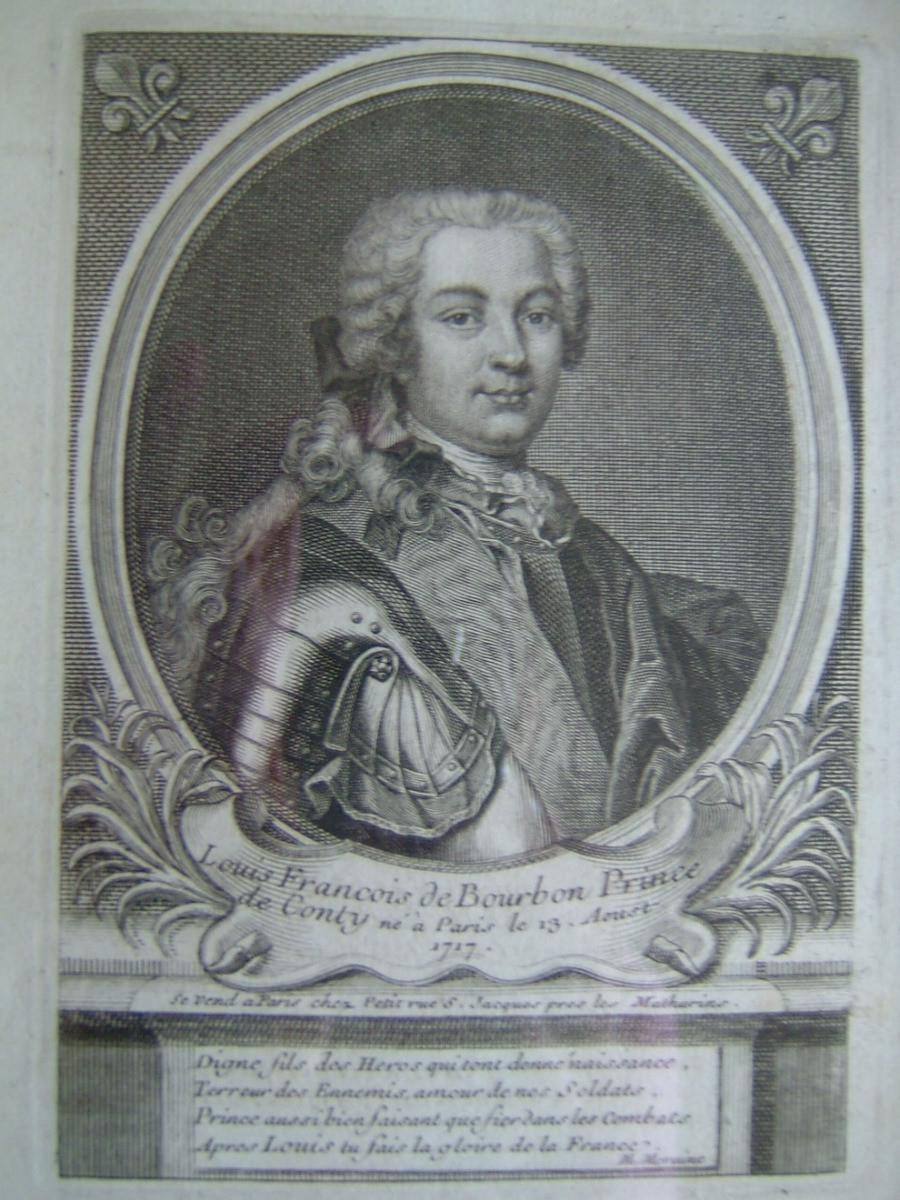 anonyme, PETIT (graveur) : Louis François de Bourbon, Prince de Conty, né à Paris, le 13 août 1717