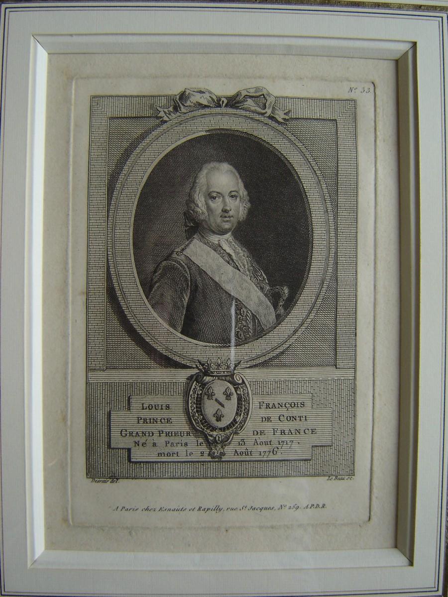 Louis François, Prince de Conty Grand Prieur de France née à Paris, le 13 août 1717, mort le 2 août 1776_0