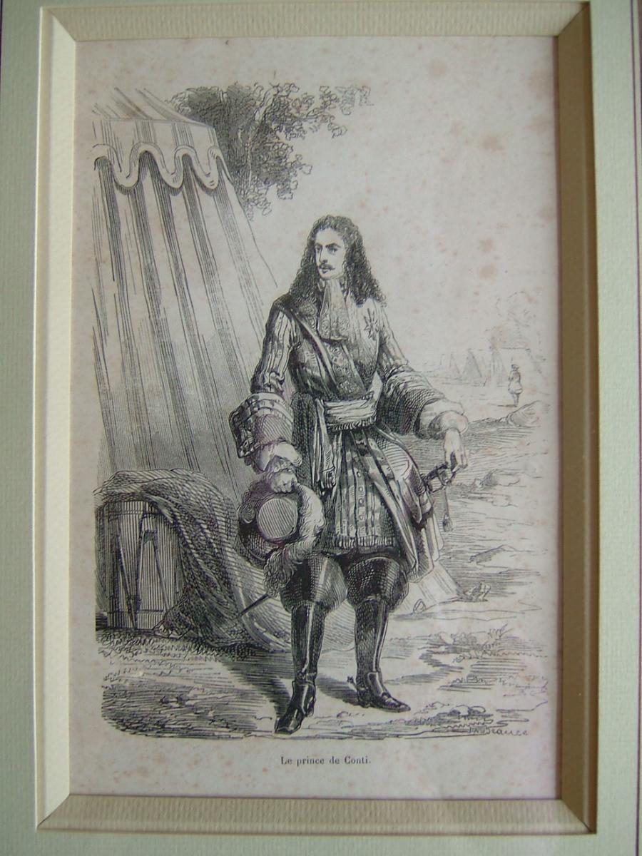François Louis de Bourbon Prince de Conty, devant une scène de bataille_0
