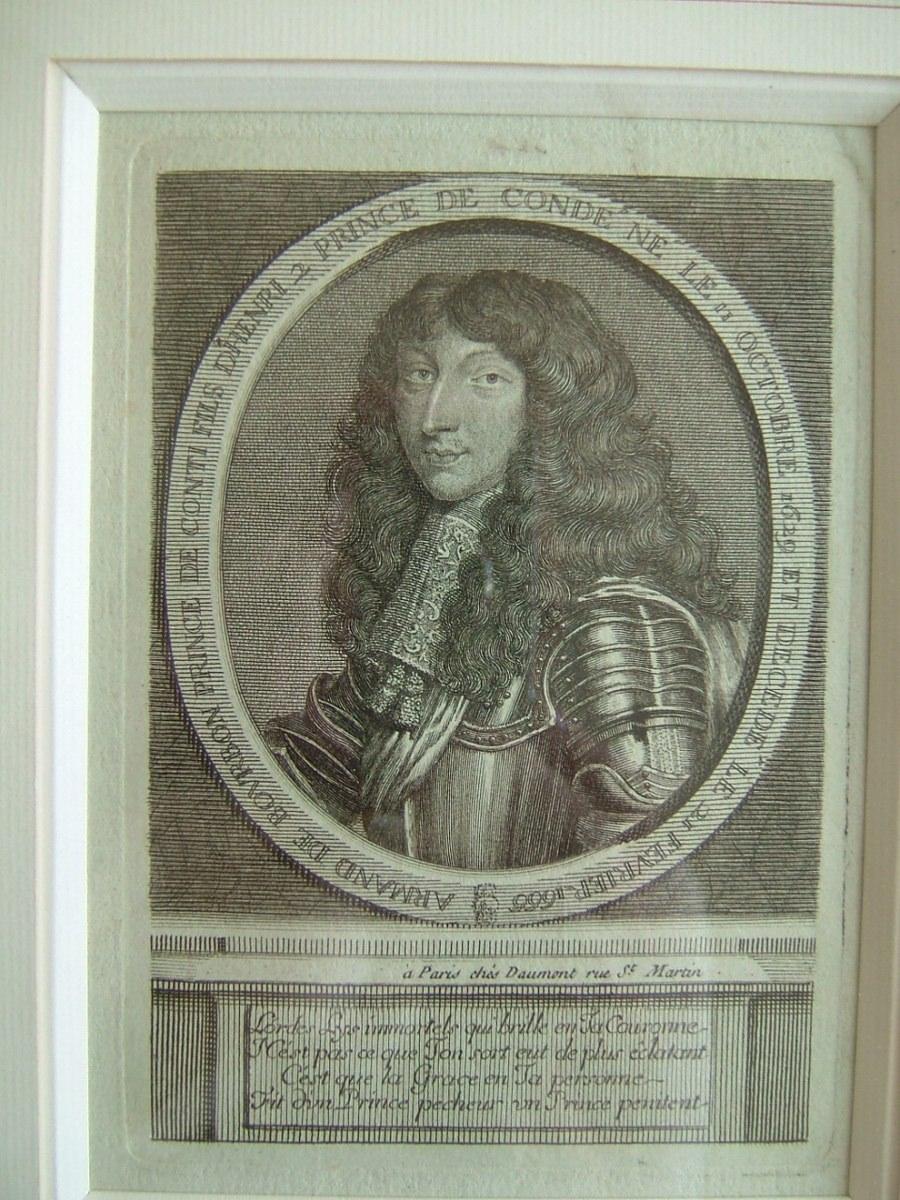 Armand de Bourbon, prince de Conti, fils d'Henri II, prince de Condé, né le 11 octobre 1629 et décédé le 21 février 1666