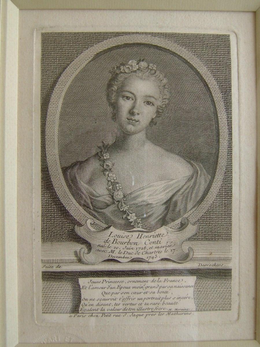 Louise Henriette de Bourbon Conti, née le 20 juin 1726, et mariée avec M. le Duc de Chartres le 17 décembre 1743_0