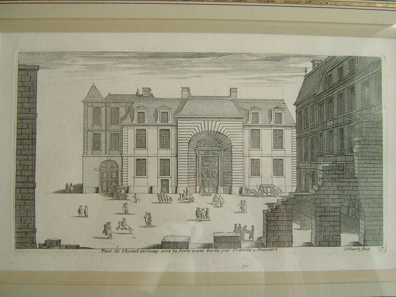 Face de l'hostel de Conty dont la Porte a esté bastie par François Mansart_0