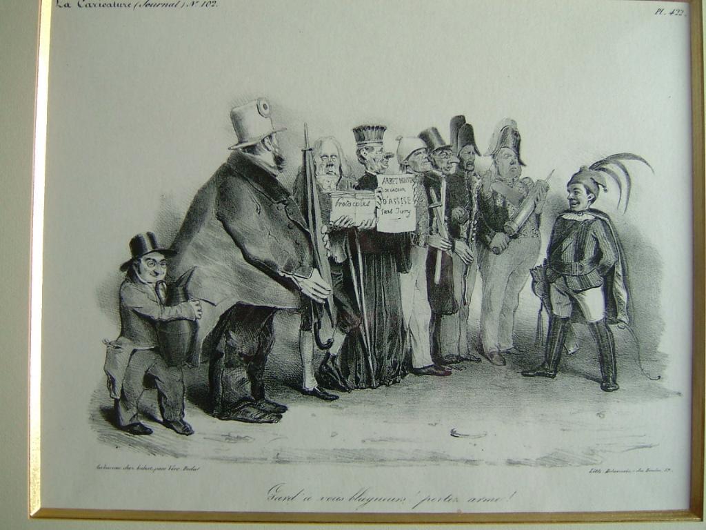 La caricature (n° 102) ; Gard'à vous blagueurs ! portez arme !_0