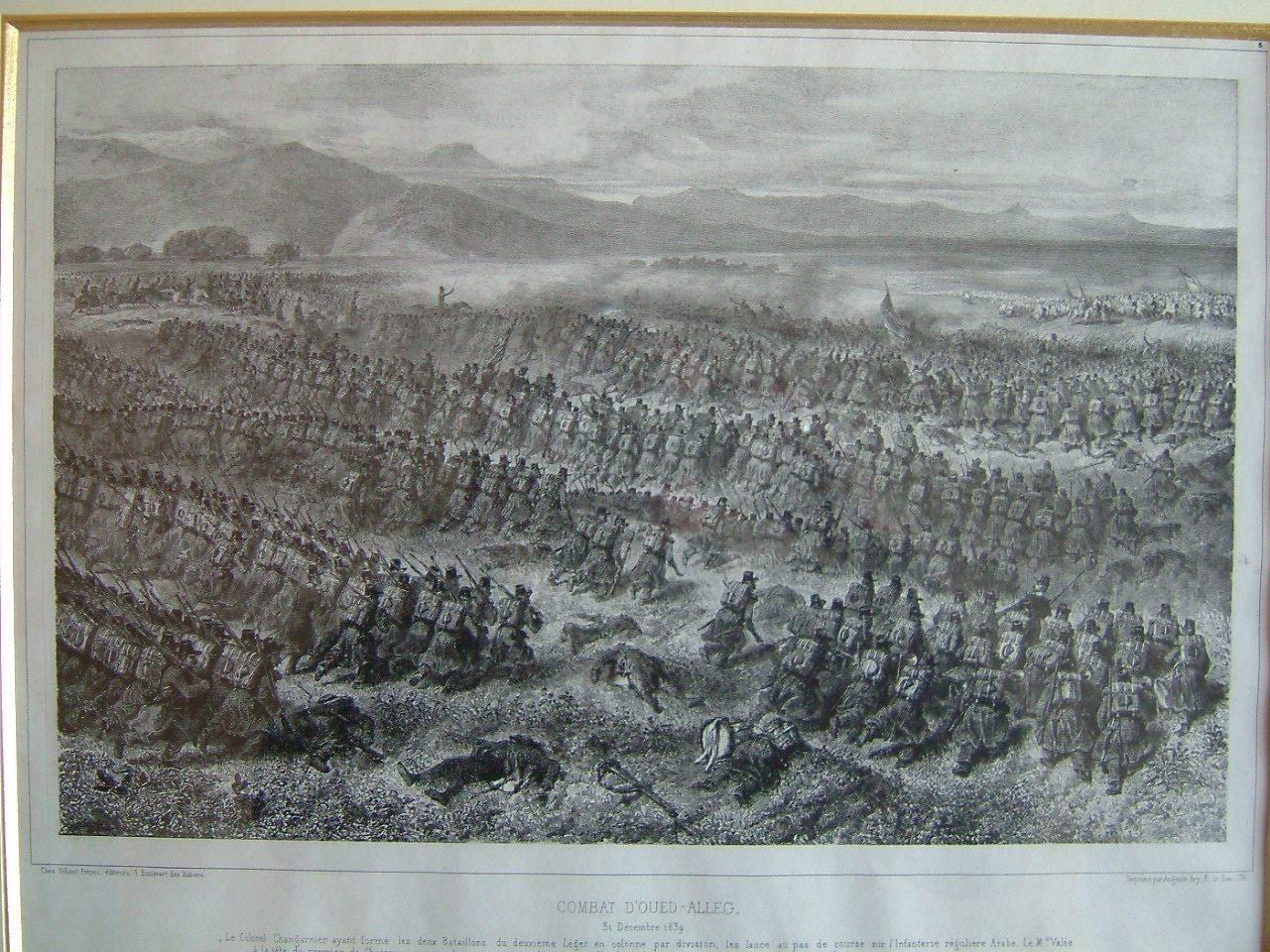RAFFET Denis Auguste Marie (dessinateur, graveur) : Combat d'Oued Aleg 31 décembre 1839