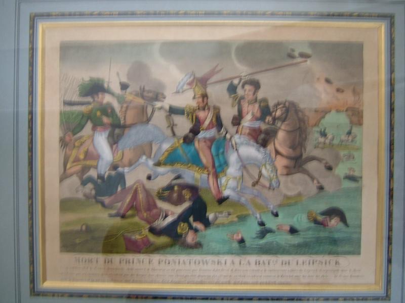 Mort du Prince Poniatovski à la bataille de Leipsick le 19 octobre 1813..._0