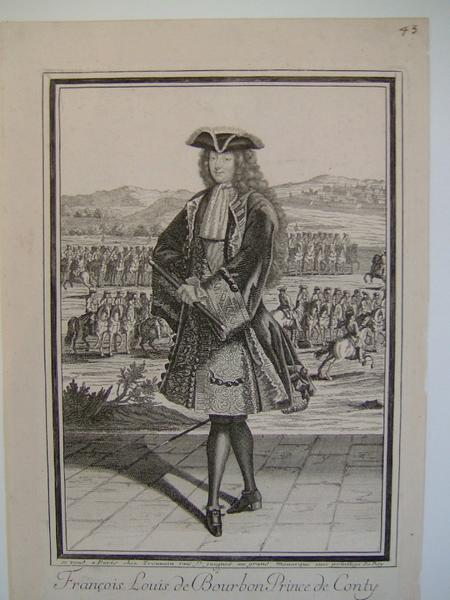 anonyme; TROUVAIN Antoine (graveur) : François Louis de Bourbon, Prince de Conty (1664-1709) en commandant en chef