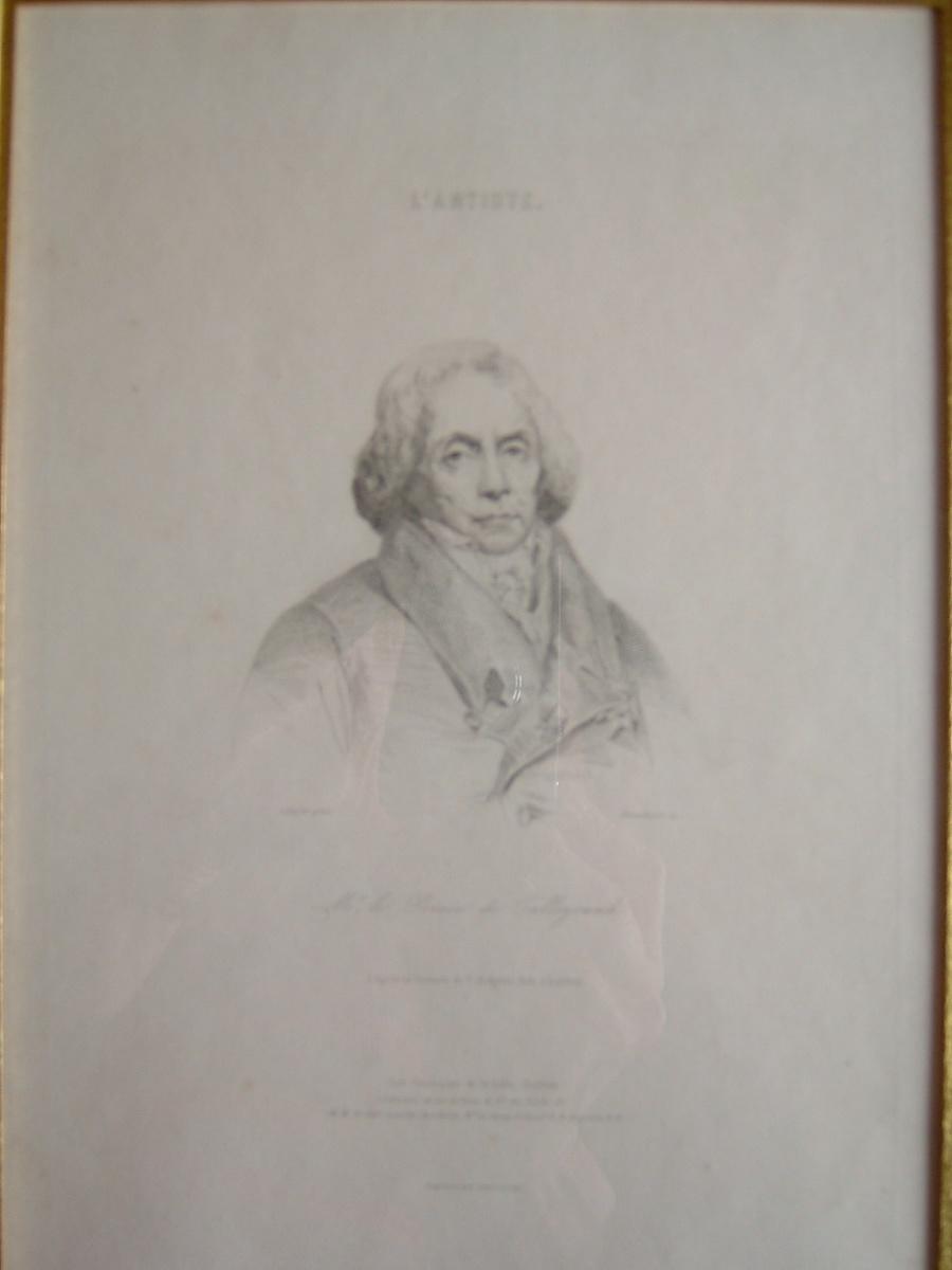 BLANCHARD Auguste I (graveur), SCHEFFER Ary (d'après), HODGETTS T : Mr le Prince de Talleyrand