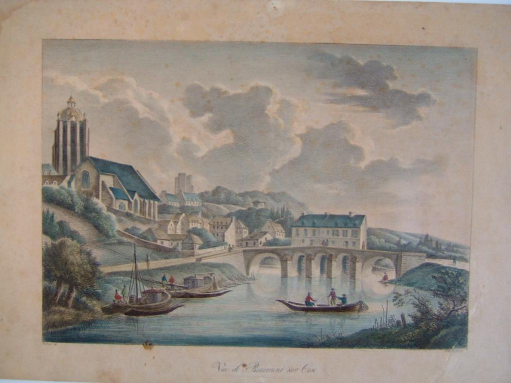 DESHAYES Célestin, FEILLEL (lithographe) : Vue de Beaumont sur Oise