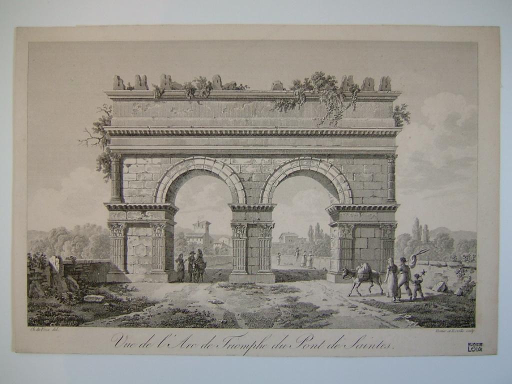 Vue de l'arc de triomphe du pont de Saintes_0