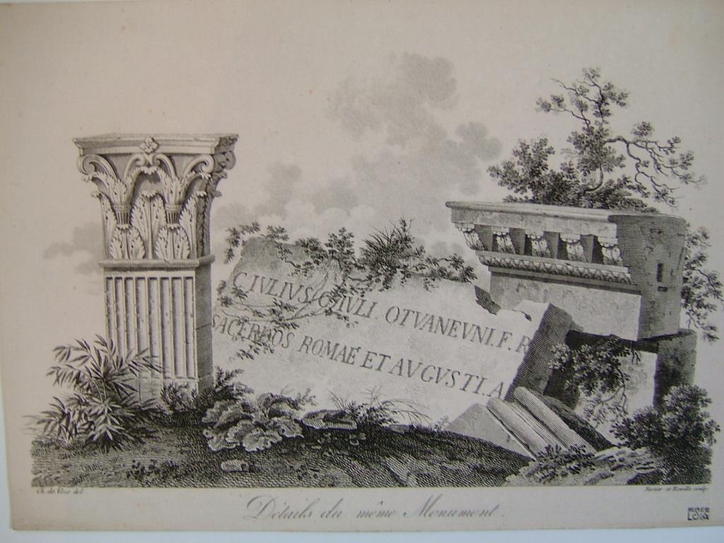 Frontispice ; Détails du même monument (Arc de triomphe du pont de Saintes)_0
