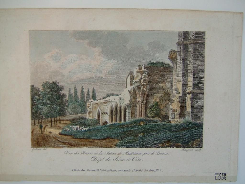 Vue des ruines du château de Maubuisson près de Pontoise_0
