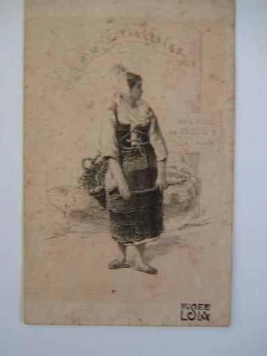 FOULQUIER Jean Antoine Valentin : Carte de visite de Mr et Mme Foulquier ('Paysanne normande')