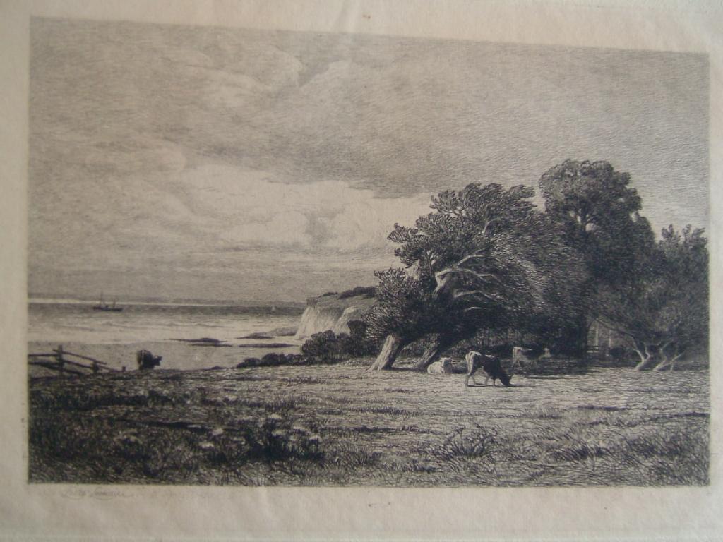 Un paysage à Vasouy près de Honfleur