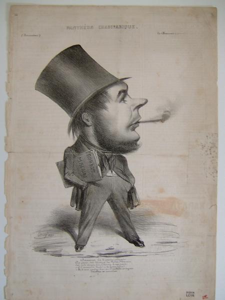 Le Charivari : Portrait charge d'Honoré Daumier_0