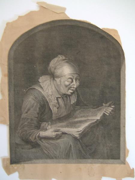 anonyme : Portrait de femme lisant
