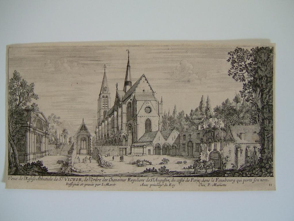 Vue de l'église Abbatiale de St Victor