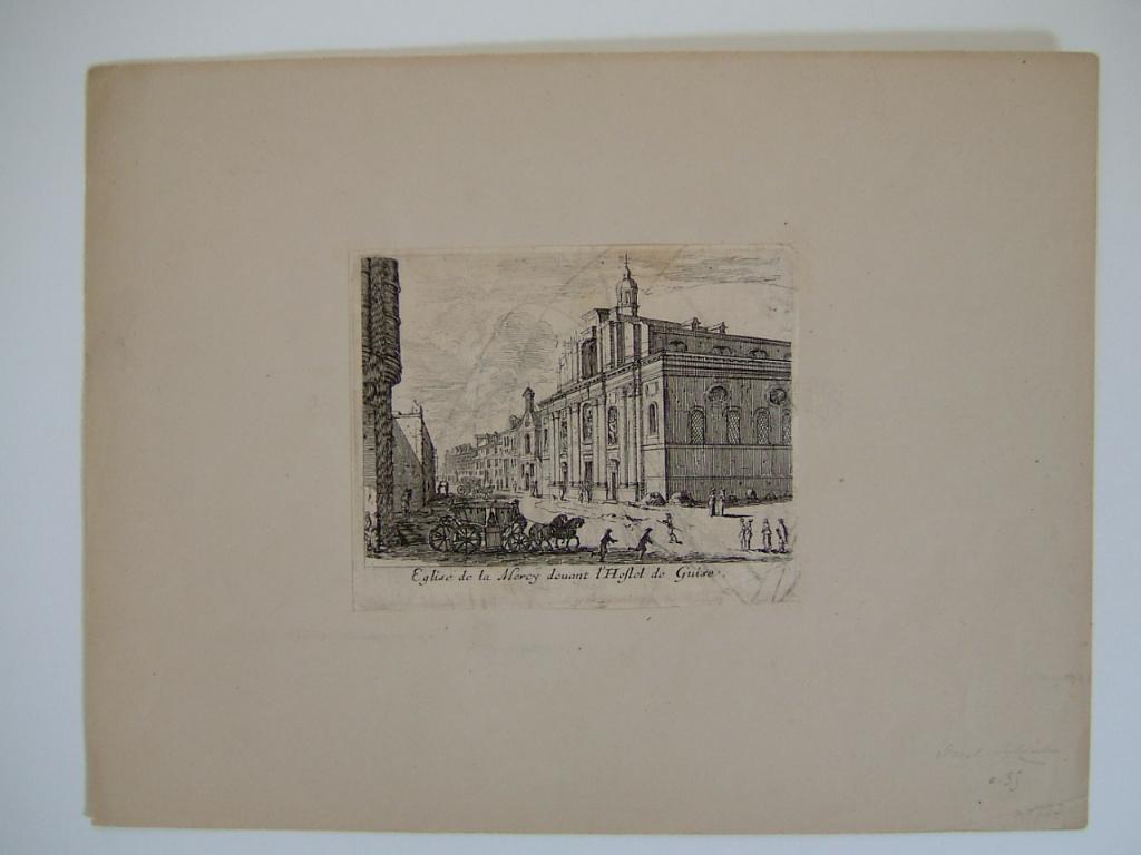 SILVESTRE Israël (attribué à, graveur) : Eglise de la Mercy devant hôtel de Guise