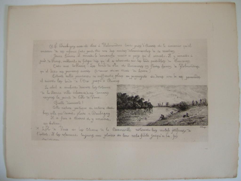 BOURGES Léonide : Daubigny, souvenirs et croquis (07) : Bords de l'Oise (Bonneville ?)