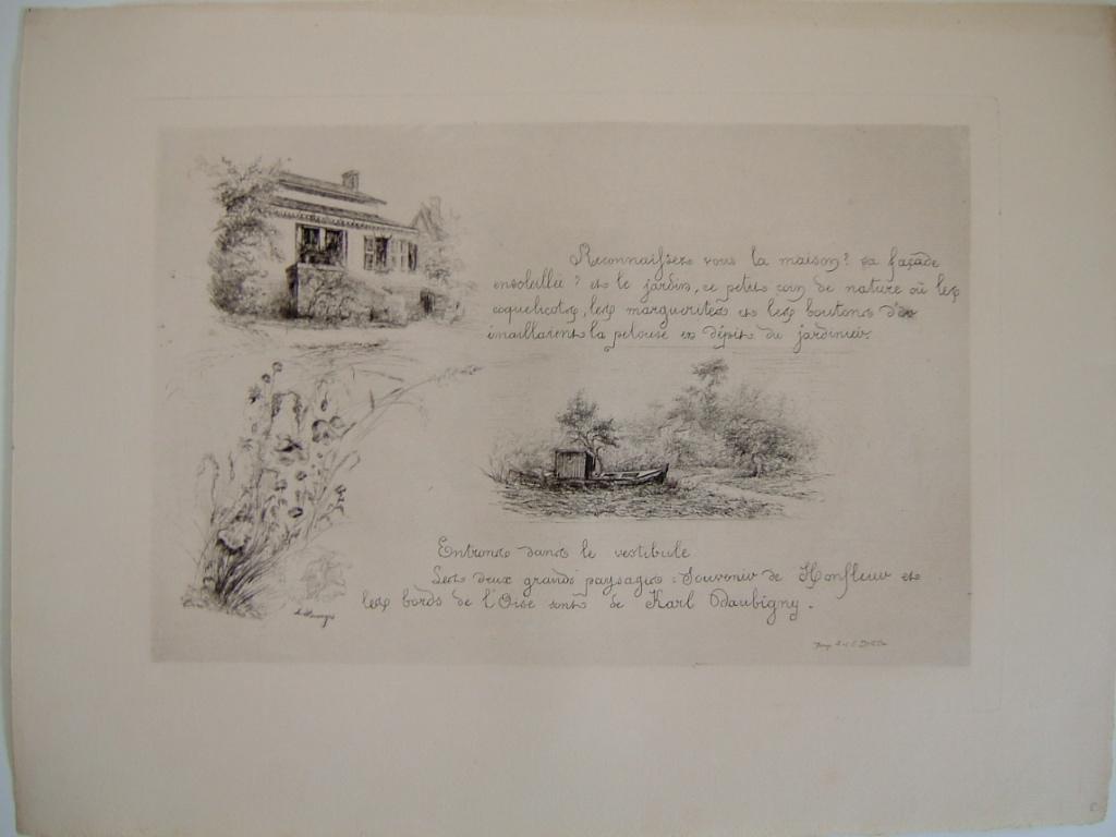 Daubigny, souvenirs et croquis (10) : Maison de Daubigny, le Bottin, coquelicots_0