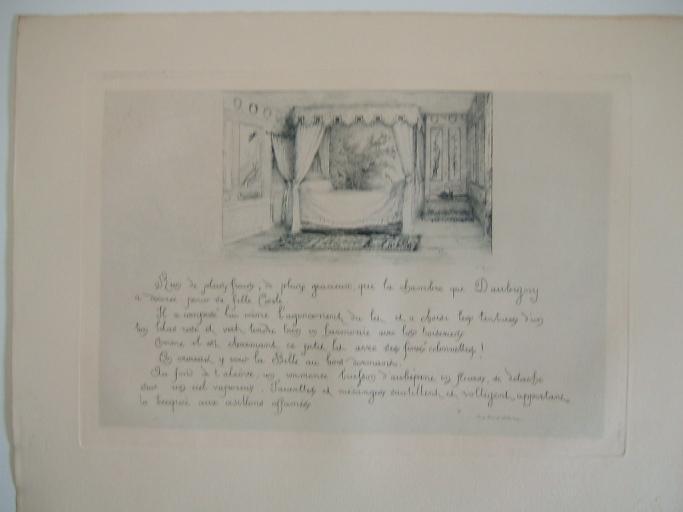 Daubigny, souvenirs et croquis (16) : Chambre de Cécile, fille de Daubigny