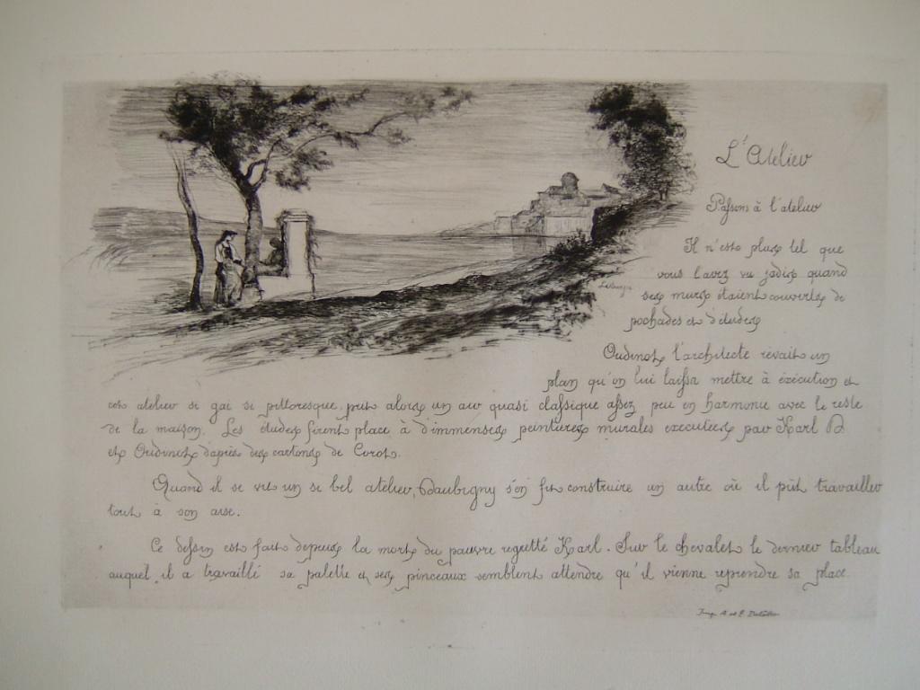 Daubigny, souvenirs et croquis (19) : L'atelier (tableau dans l'atelier de K. Daubigny)_0