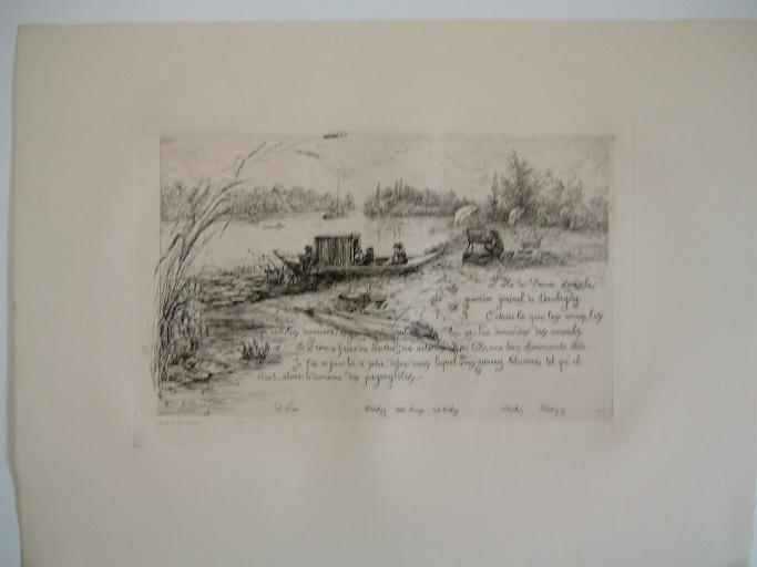Daubigny, souvenirs et croquis (21) : L'Ile de Vaux (et le Bottin) et les peintres paysagistes amis de Daubigny_0