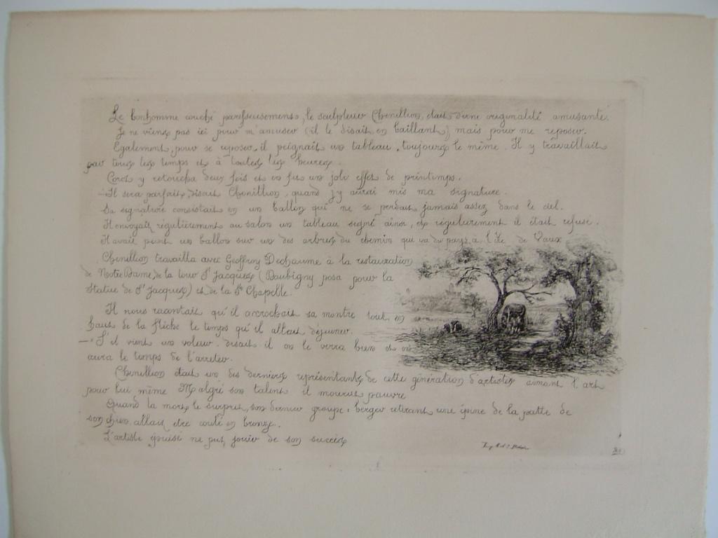 BOURGES Léonide : Daubigny, souvenirs et croquis (22) : Livret de croquis (titre factice)
