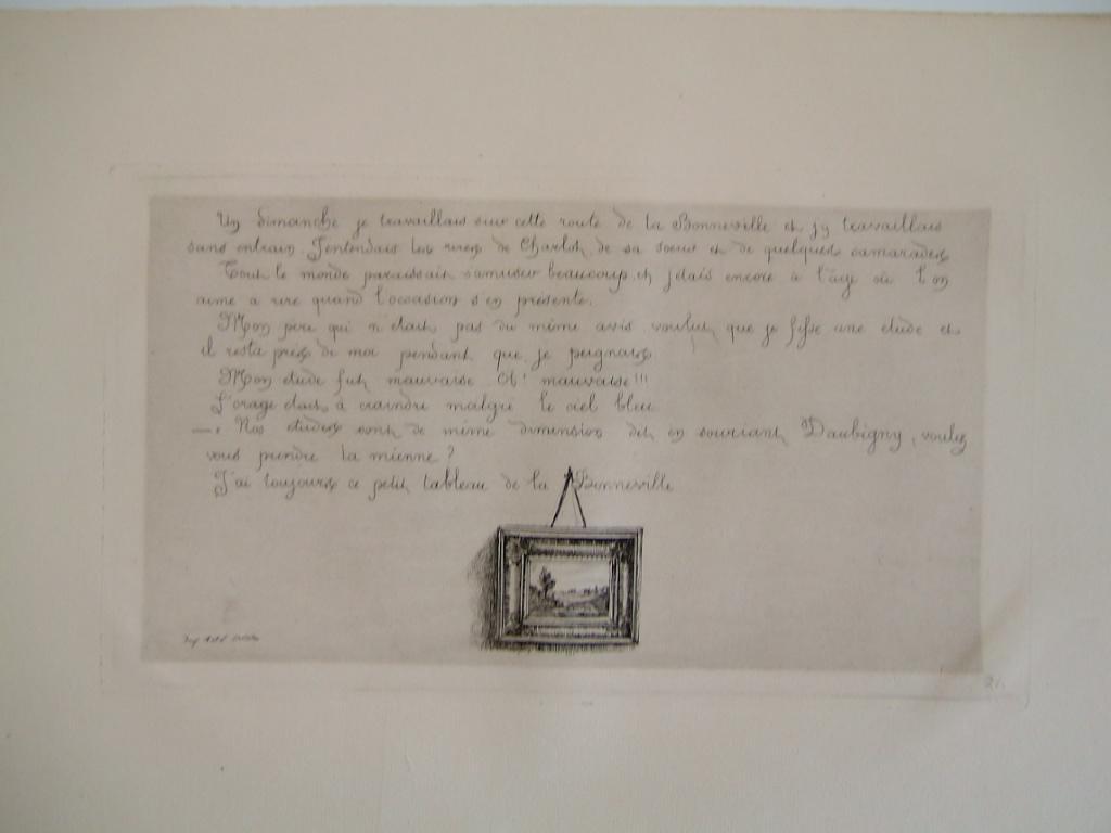 BOURGES Léonide : Daubigny, souvenirs et croquis (24) : Le petit tableau de la Bonneville