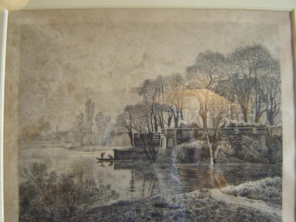 BASTARD Léon de (peintre, graveur, lithographe) : L'île Adam île Conti