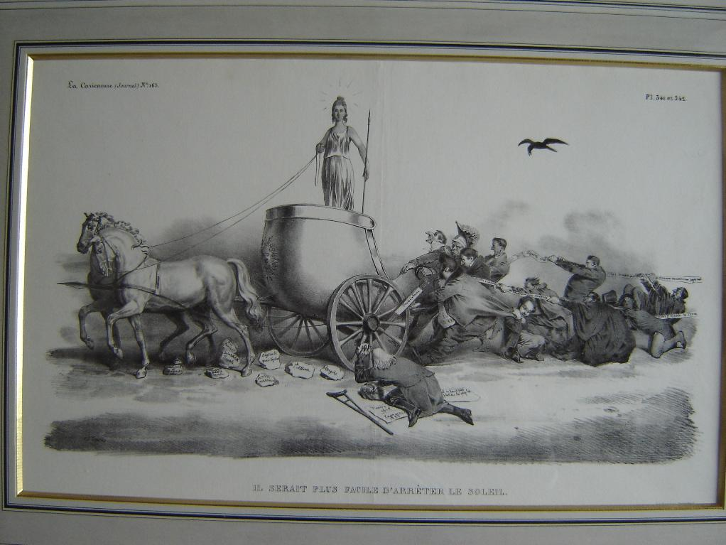 La Caricature (n°163) : Le char de l'Etat (Il serait plus facile d'arrêter le soleil)_0