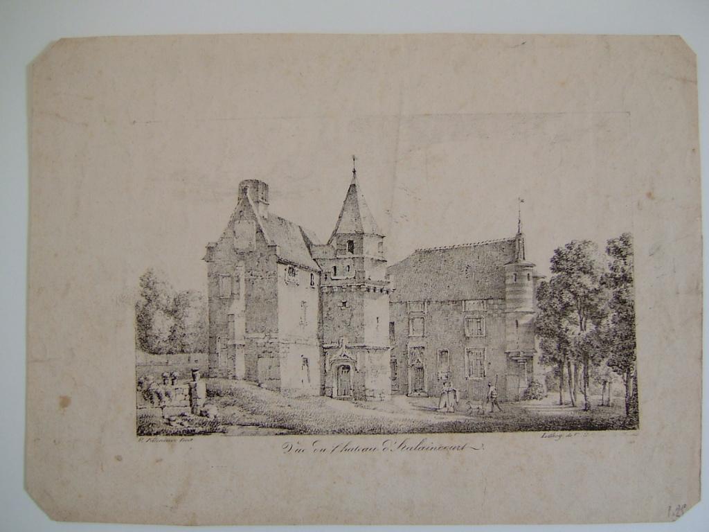 Vue du chateau d'Halaincourt