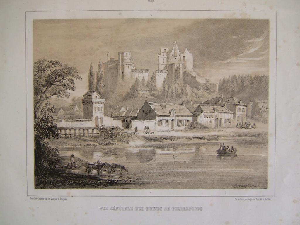 Vue générale des ruines de Pierrefonds_0