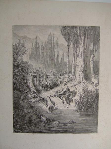 Bergère au bord de l'eau (factice)_0