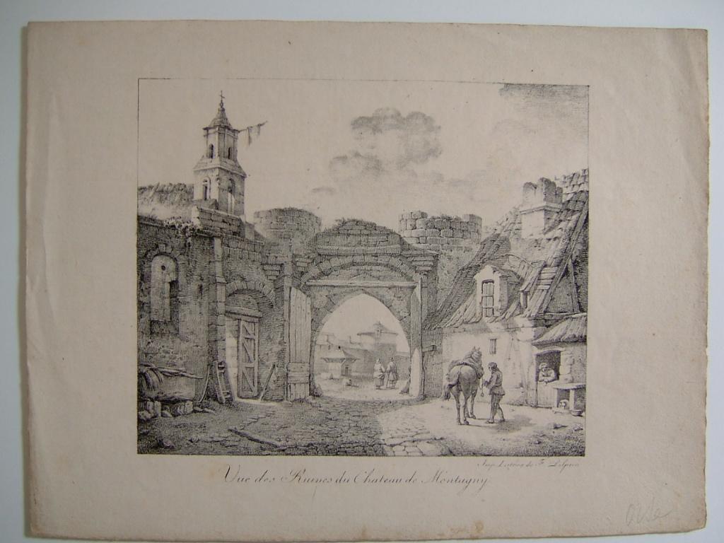 Vue des ruines du château de Montagny