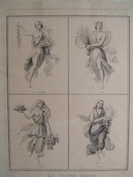 Album du Journal des Peintres en décors : Les quatre saisons_0