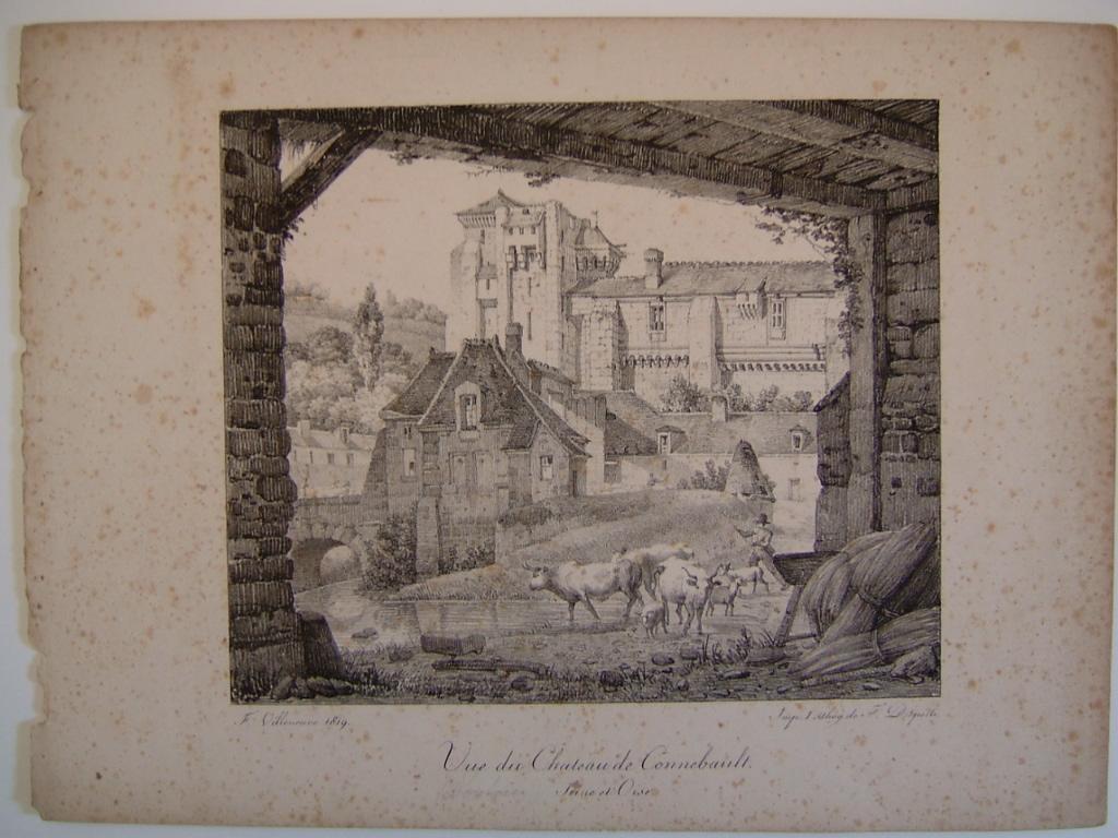 Vue du Château de Connebault Seine et Oise_0