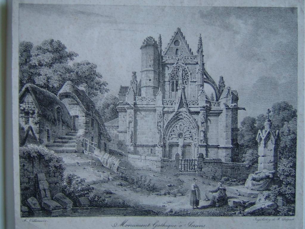 Monument gothique à Serans (Normandie)_0