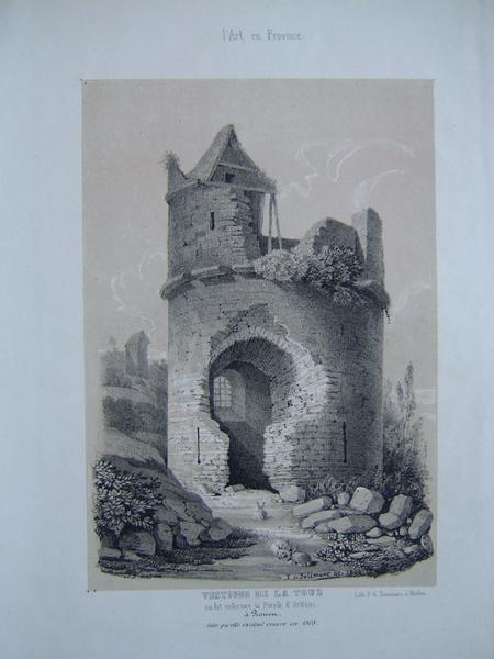 Vestiges de la tour où fut enfermée la pucelle d'Orléans à Rouen, telle qu'elle existait encore en 1808_0