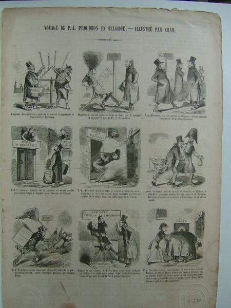 Le Charivari : Voyage de P.J. Proudhon en Belgique, illustré par Cham_0