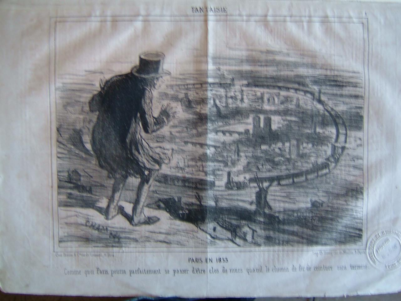 Le Charivari : Fantaisie : Paris en 1853