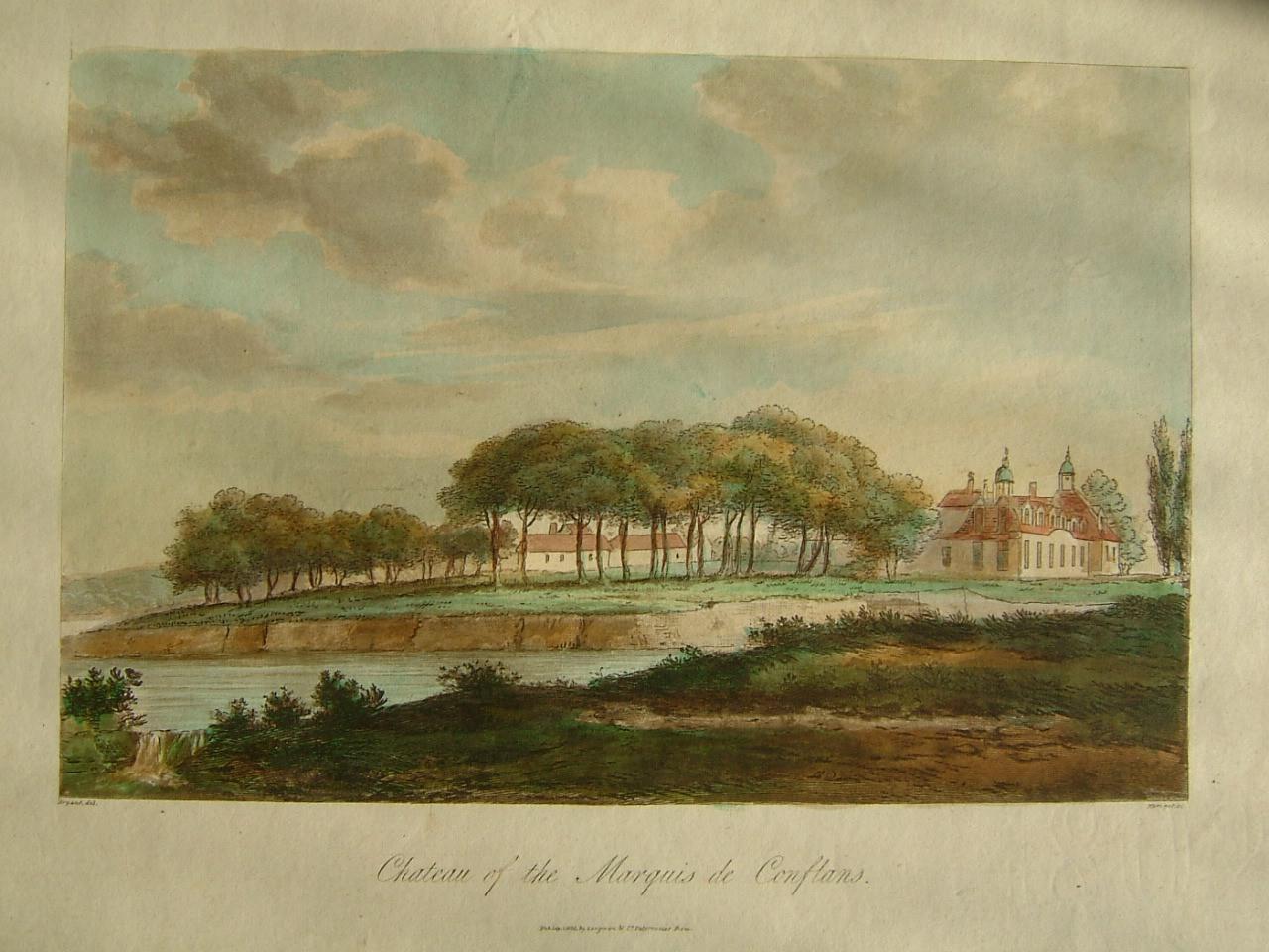 BRYANT (dessinateur), MERIGOT (graveur) : Château of the Marquis de Conflans