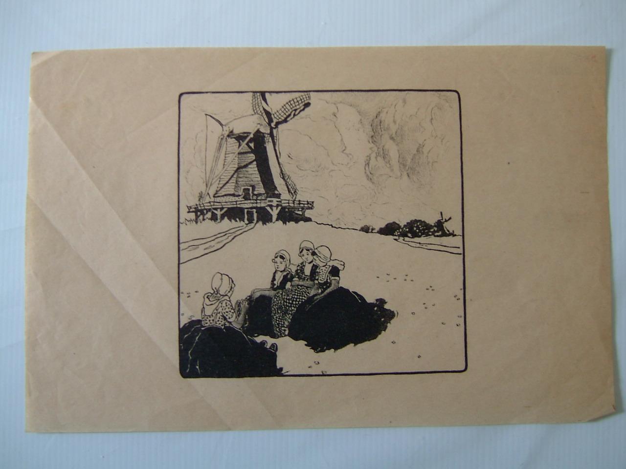 anonyme : Hollandaises et moulins (factice)