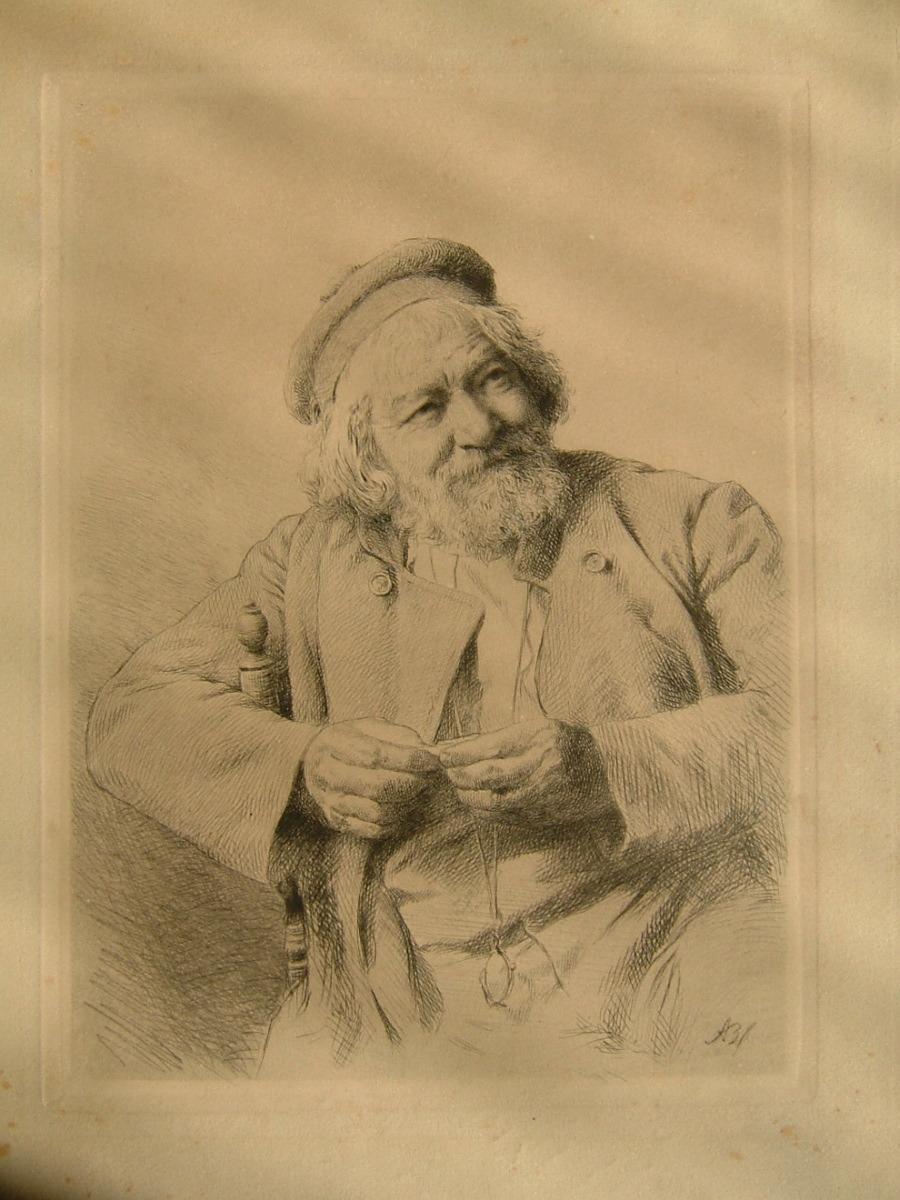 BOULARD Auguste Laurent : Portrait d'Auguste Boulard père