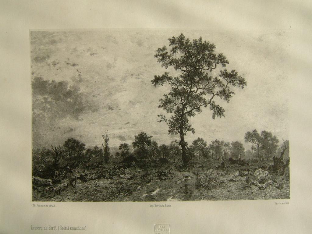 FRANCAIS François Louis, ROUSSEAU Théodore (d'après) : Lisière de forêt (soleil couchant)