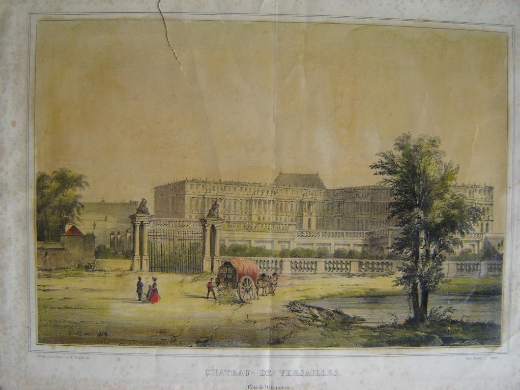 Le château de Versailles côté de l'Orangerie